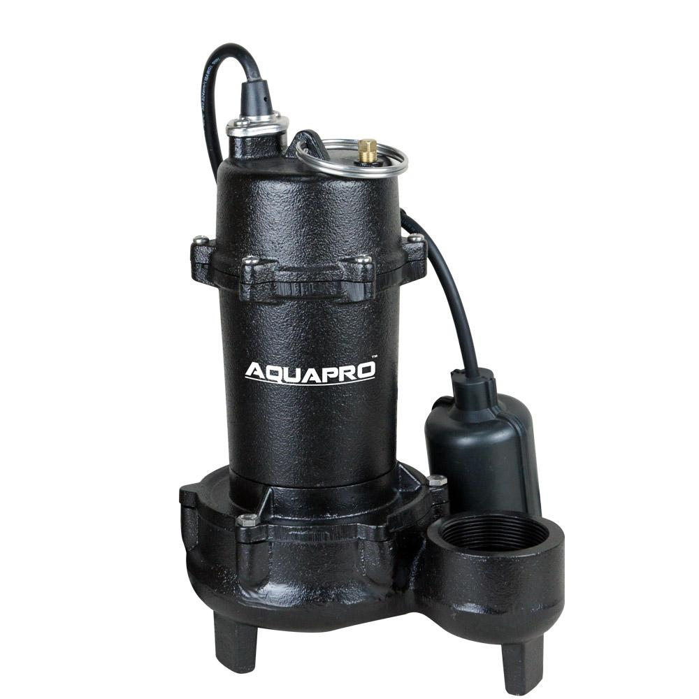 1/2 HP Submersible Effluent Pump with Piggyback Tether Float Switch