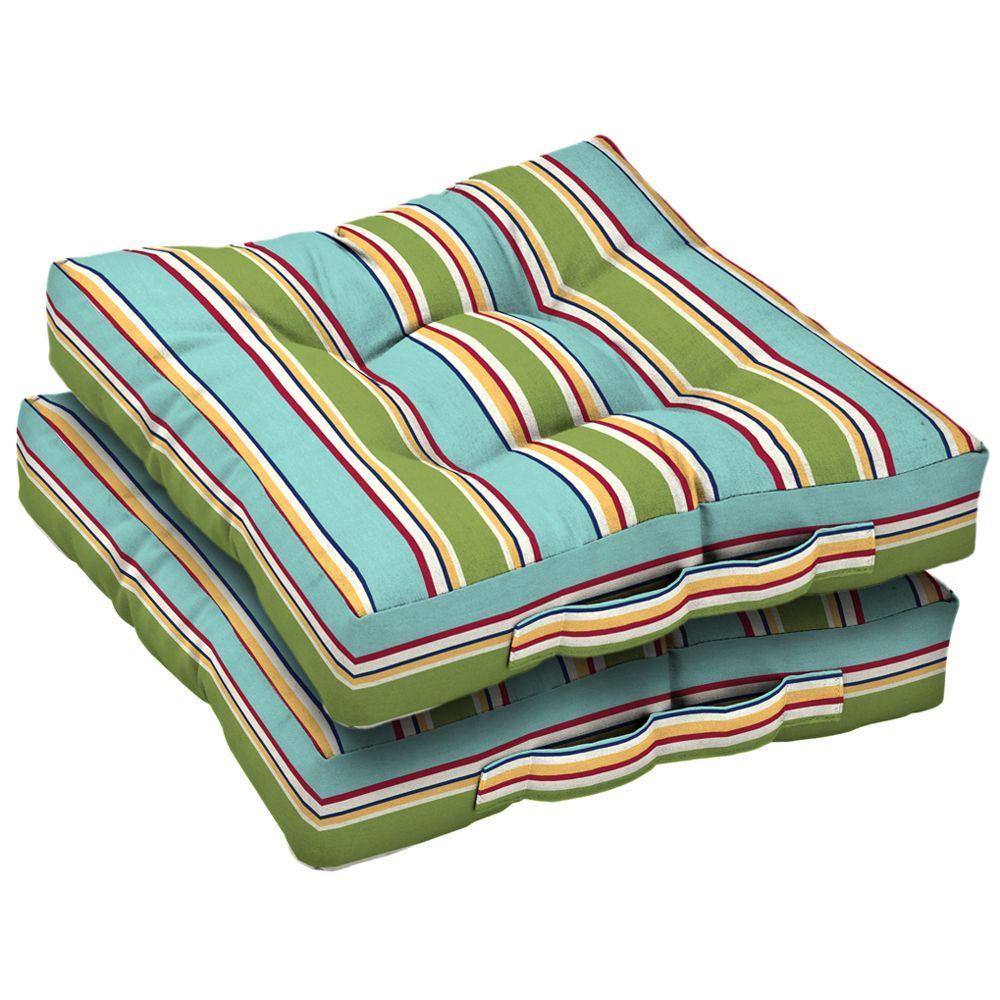 Arden Beach Stripe Deck Cushion, 2-Pack-DISCONTINUED