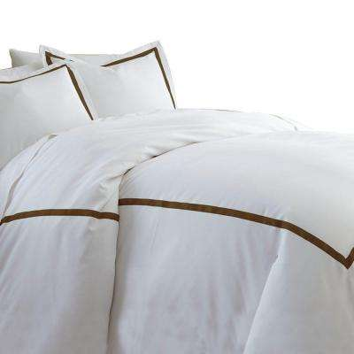 Chocolate 600-Count 3-Piece Queen Duvet Set