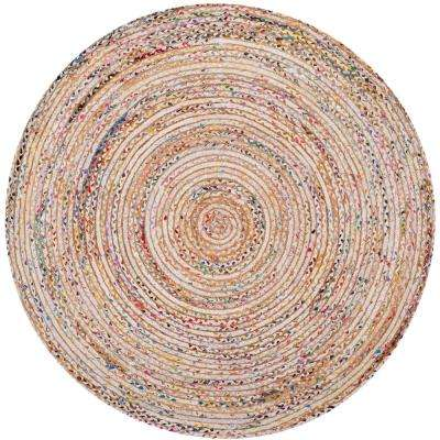 Cape Cod Beige/Multi 7 ft. x 7 ft. Round Area Rug
