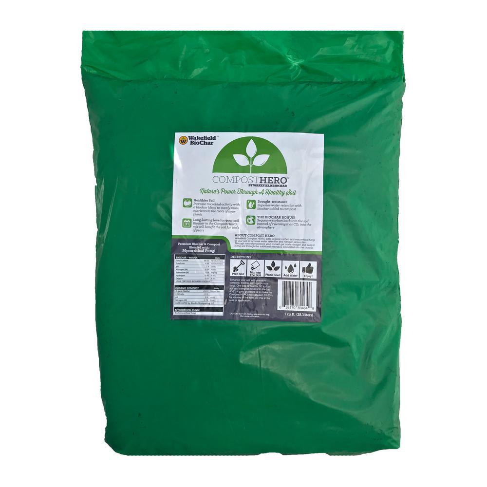 HERO Blend 1 cu. ft. Biochar Organic Garden Compost with Mycorrhizal Fungi