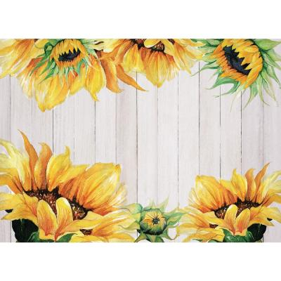 MHF Home Sunflower Yellow 18 in. W x 13 in. L Polypropylene Placemat Set (4-Pack)