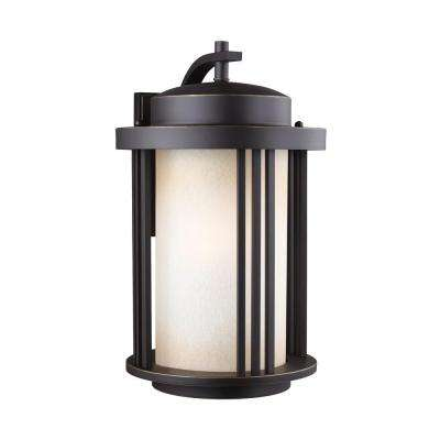 Crowell 1-Light Antique Bronze 19.5625 in. Wall Lantern Sconce
