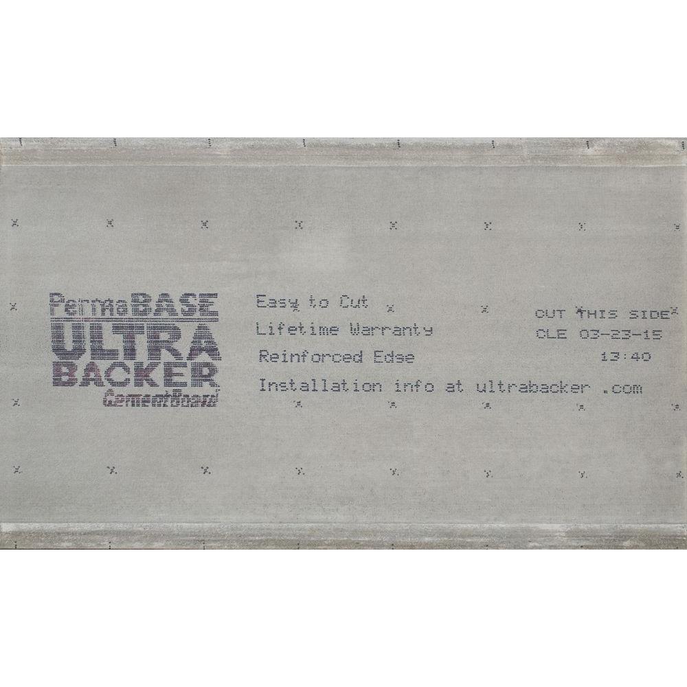 UltraBacker 1/4 in. x 3 ft. x 5 ft. Cement Board