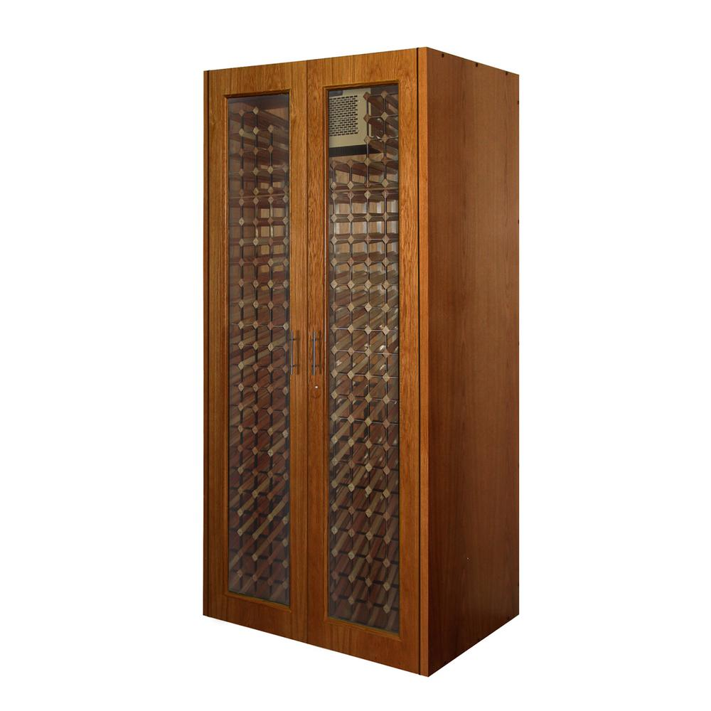 Vinotemp 280-Bottle Wine Cabinet with 2 Glass Doors-Vino-440TDG-CH ...