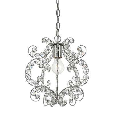 Rapture 1-Light Chrome Mini Chandelier
