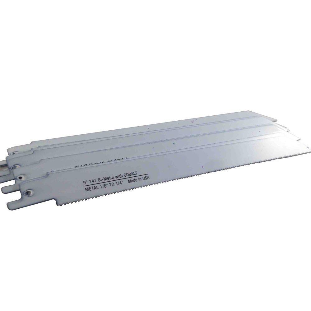 9 in. x 3/4 in. x 0.035 in. 14 Teeth per in. Metal Cutting Bi-Metal Reciprocating Saw Blade (10-Pack)
