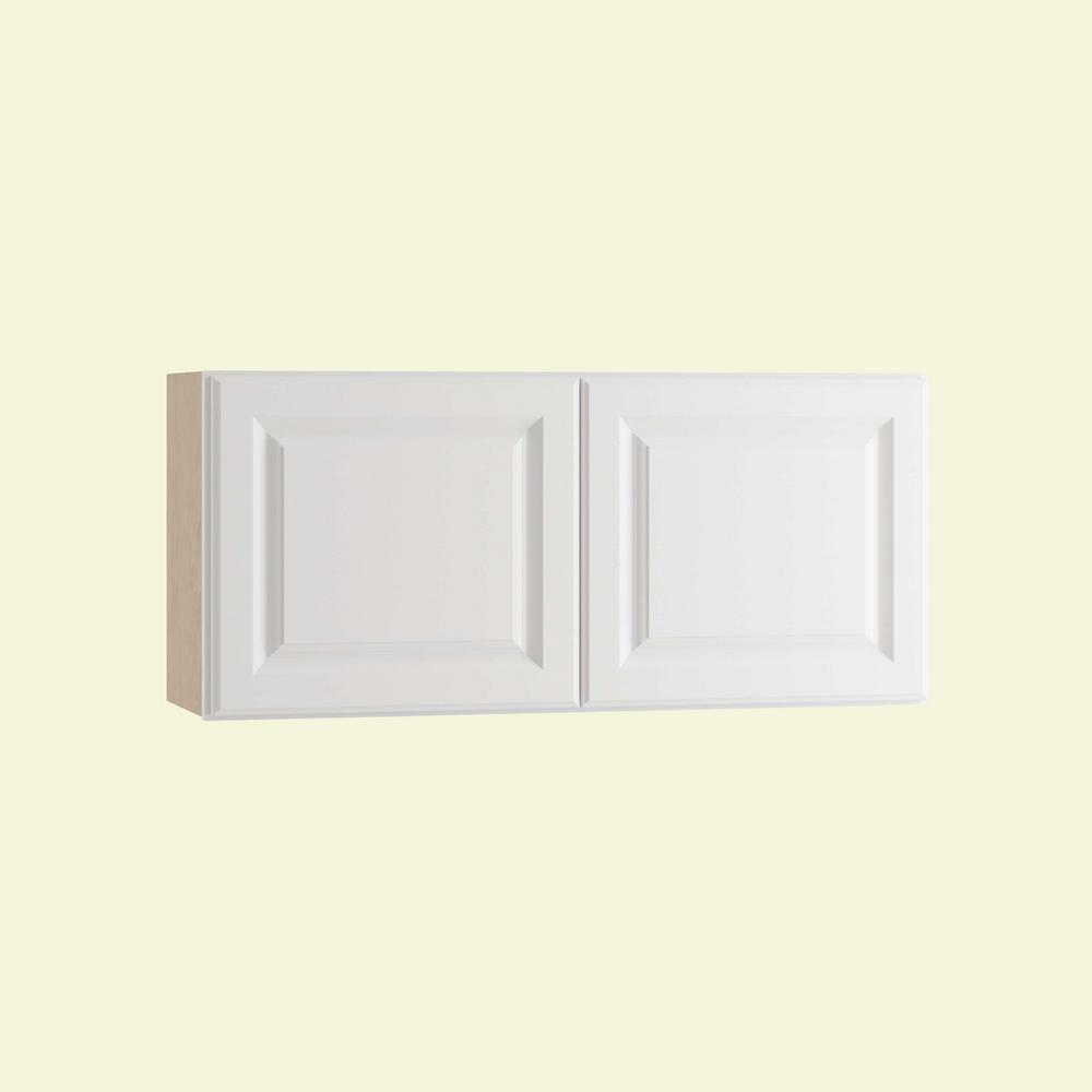 Home decorators collection hallmark assembled 36x12x12 in for Arctic white kitchen cabinets