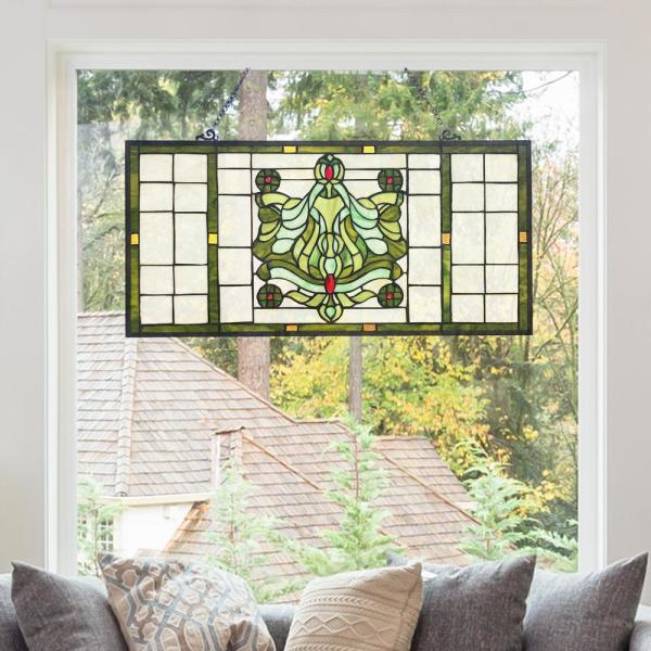 River Of Goods Green Victorian Stained, Victorian Stained Glass Window Panels