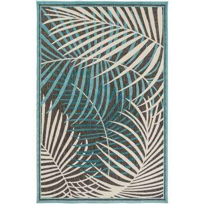 Guaral Teal 8 ft. x 11 ft. Indoor/Outdoor Area Rug