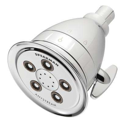 Hotel Pure 3-Spray 4.13 in. Filtered Low Flow Fixed Showerhead in Polished Chrome
