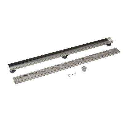 Designline 48 in. Stainless Steel Linear Drain Wave Grate
