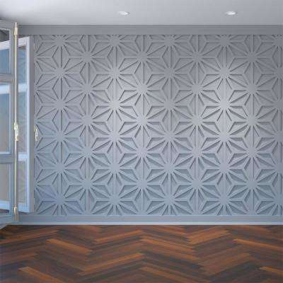 3/8 in. x 23-3/4 in. x 27-1/2 in. Large Hampton White Architectural Grade PVC Decorative Wall Panels