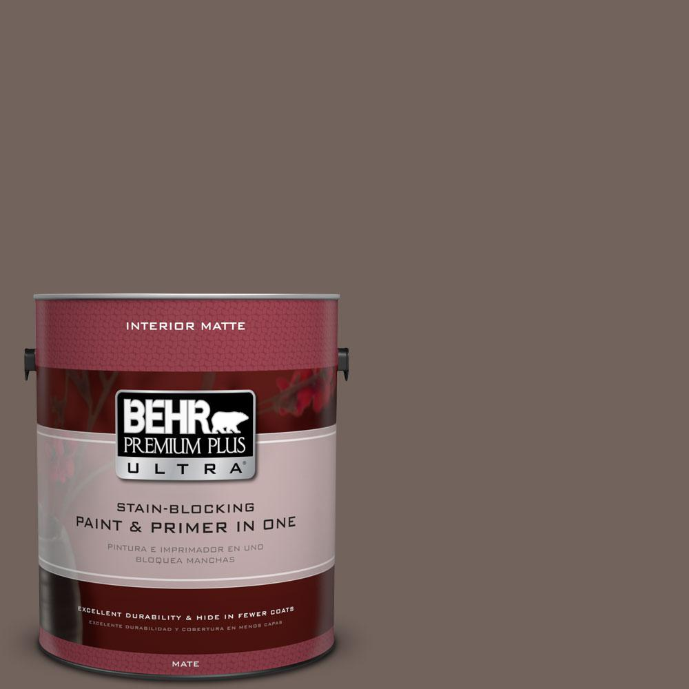 1 gal. #780B-6 Mountain Ridge Matte Interior Paint and Primer in