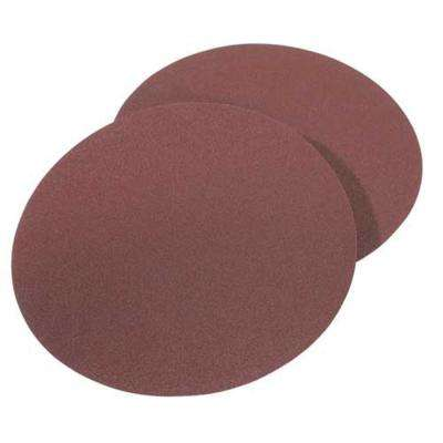 8 in. 120-Girt Aluminum Oxide Sanding Stick-On-Discs (2-Piece)