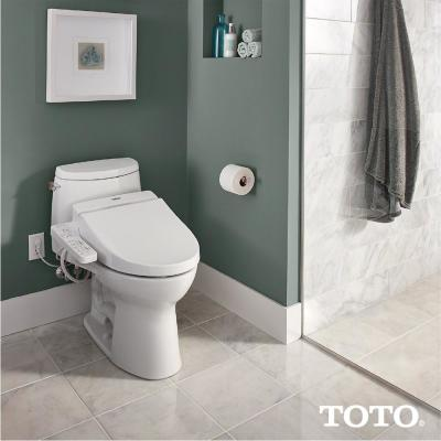 WASHLET C100 Electric Bidet Seat for Round Toilet with PREMIST in Cotton White