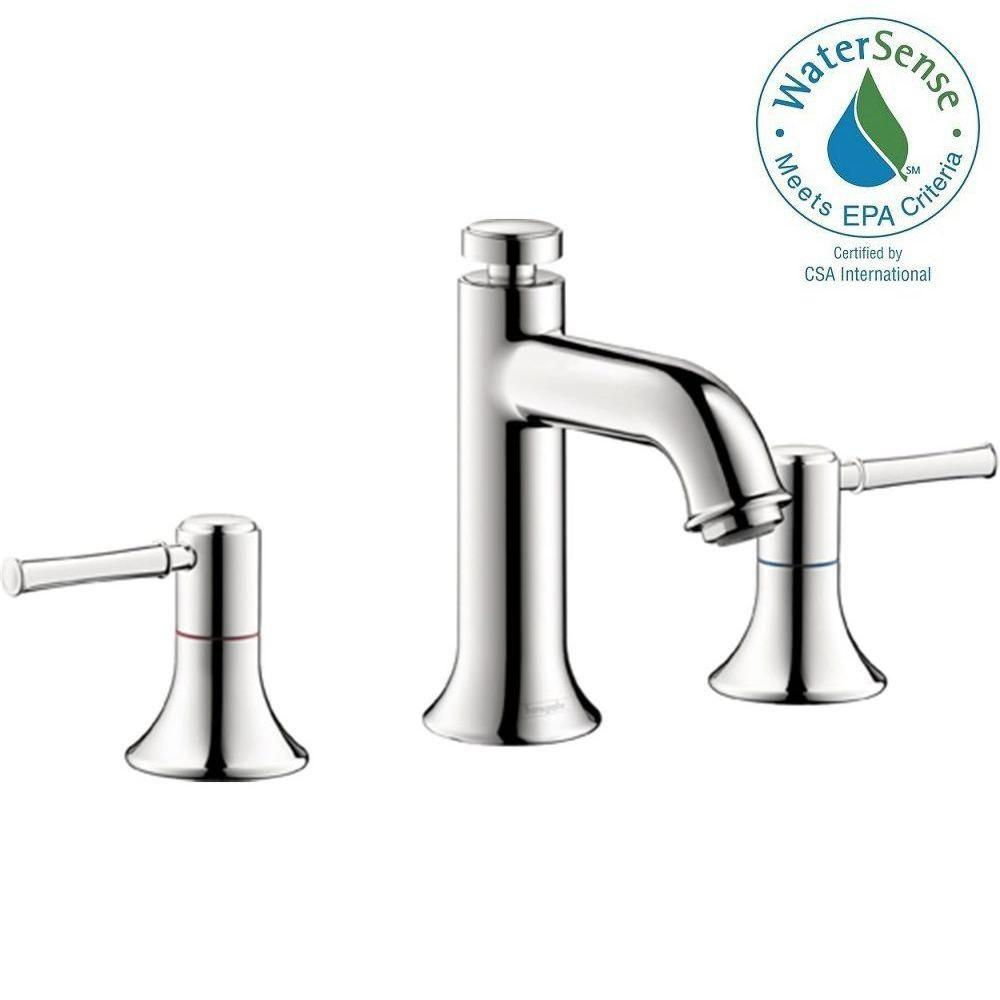 Hansgrohe Talis C 8 in. Widespread 2-Handle Mid-Arc Bathroom Faucet ...