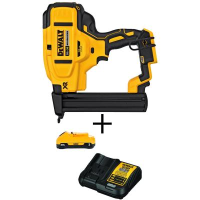 20-Volt MAX XR Lithium-Ion Cordless 18-Gauge Narrow Crown Stapler (Tool-Only)with Bonus 3AH Battery Pack and Charger