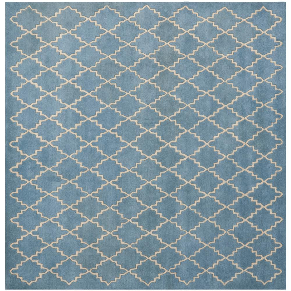 Chatham Blue Gray 5 ft. x 5 ft. Square Area Rug