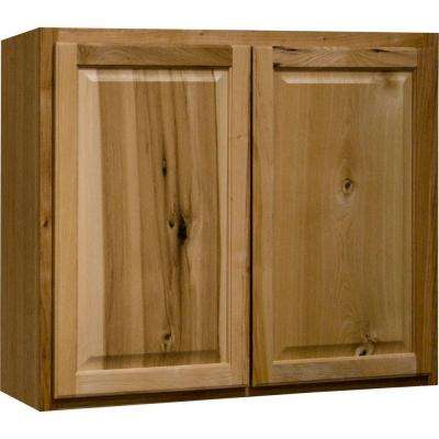 Hampton Assembled 36x30x12 in. Wall Kitchen Cabinet in Natural Hickory