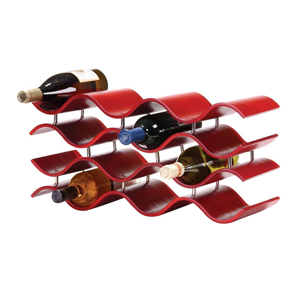 Bali 12-Bottle Crimson Counter Wine Rack