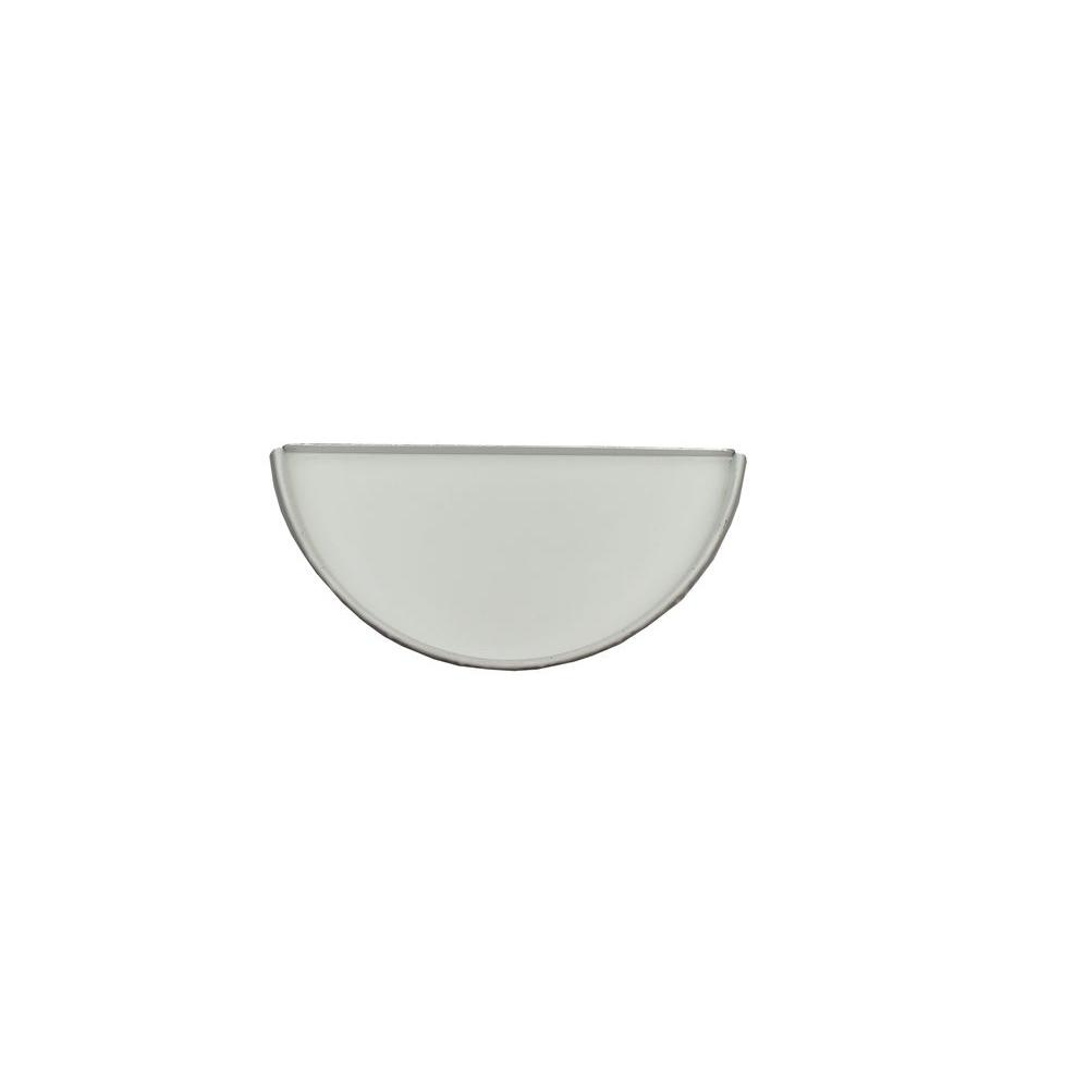 6 in. Half Round Low Gloss White Aluminum Gutter End Cap