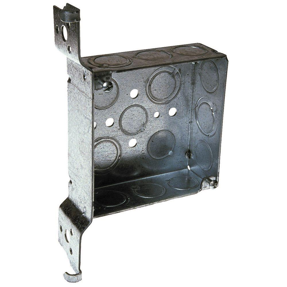 4 in. Square Welded Box 1-1/2 Deep with 1/2 & 3/4