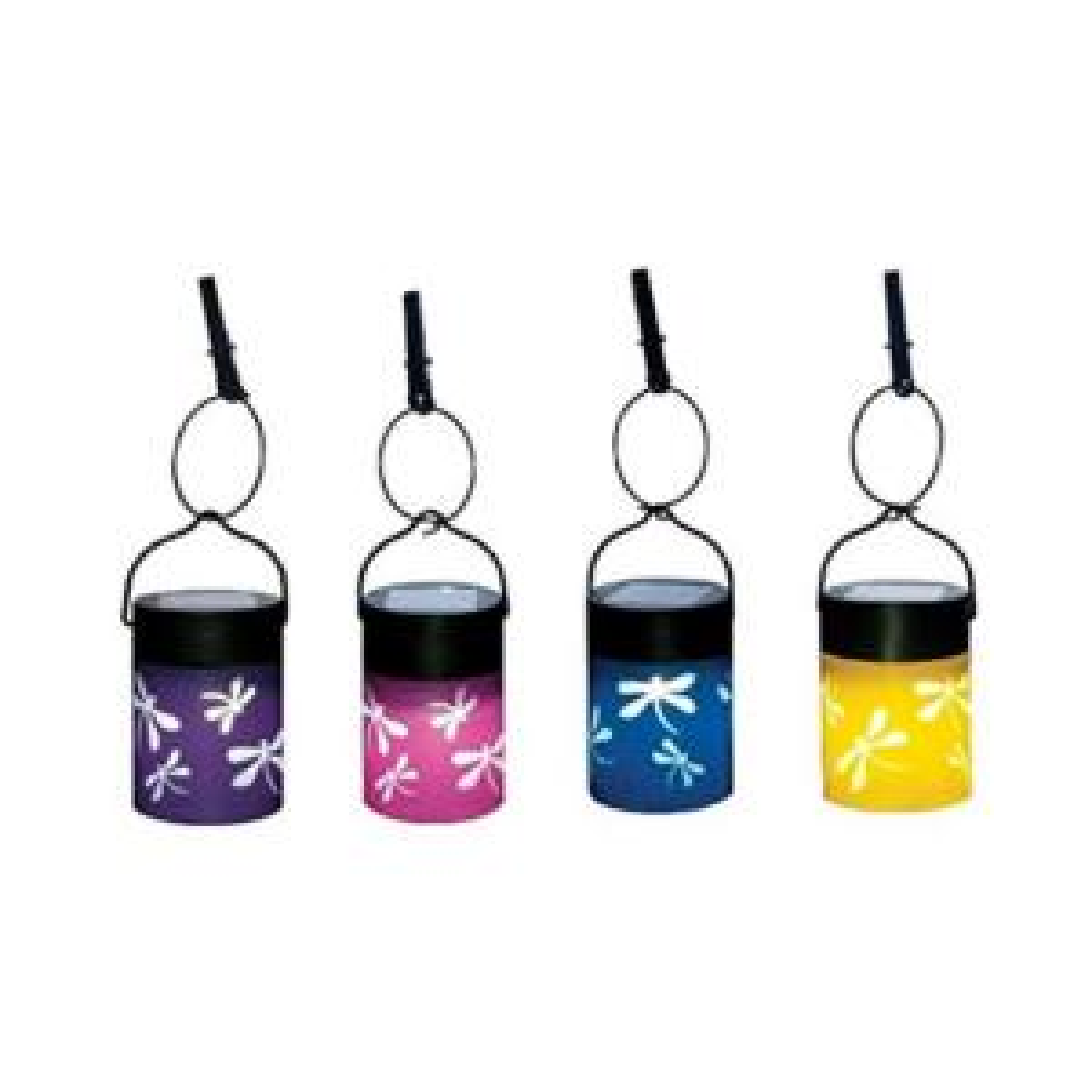 Smart Solar Fiesta Hanging Umbrella Lanterns (Set of 4) by Smart Solar