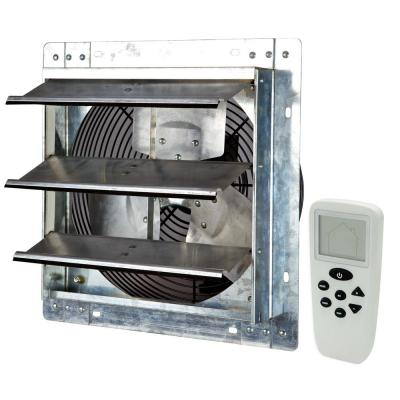 Iliving 772 Cfm Silver Electric Powered Gable Mount Shutter Fan Vent Ilg8sf12v The Home Depot