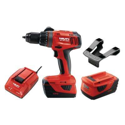 22-Volt Lithium-Ion 1/2 in. Cordless Hammer Drill Driver SF 6H Kit (No Bag)