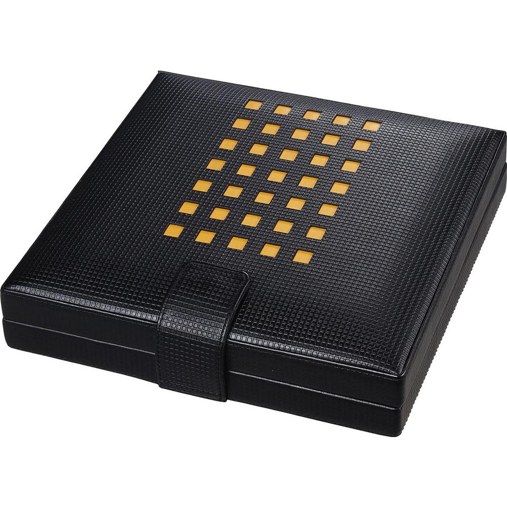 Mod Black Leather Cigar Humidor