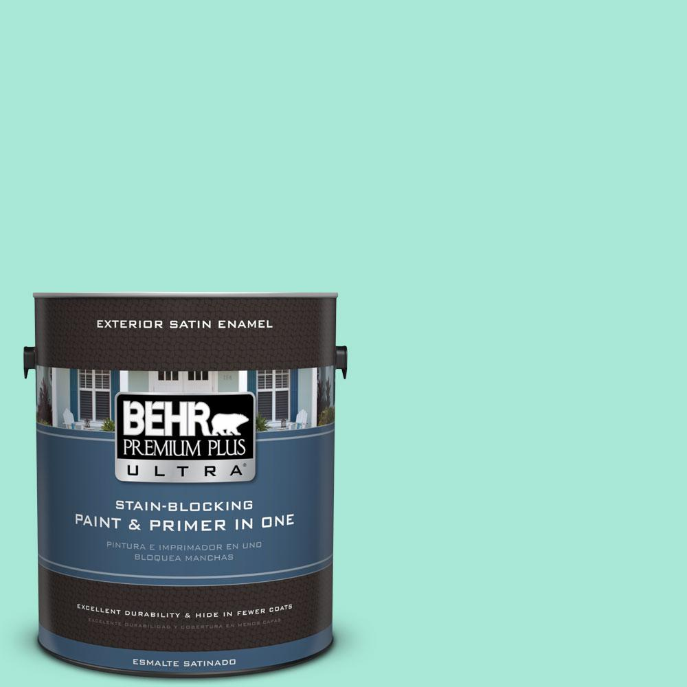 BEHR Premium Plus Ultra 1-gal. #480A-2 Botanical Tint Satin Enamel Exterior Paint