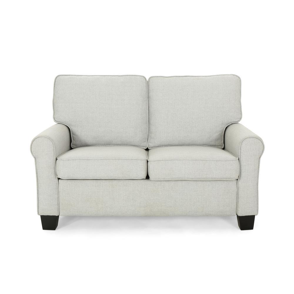 Incredible Noble House Bernietta Mid Century Modern Light Gray Fabric Machost Co Dining Chair Design Ideas Machostcouk