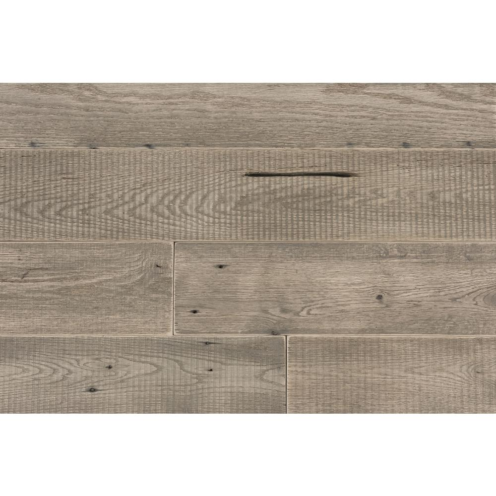 25 Sq Ft 4 1/2 in. Width Weathered Grey Reclaimed Barn Wo...
