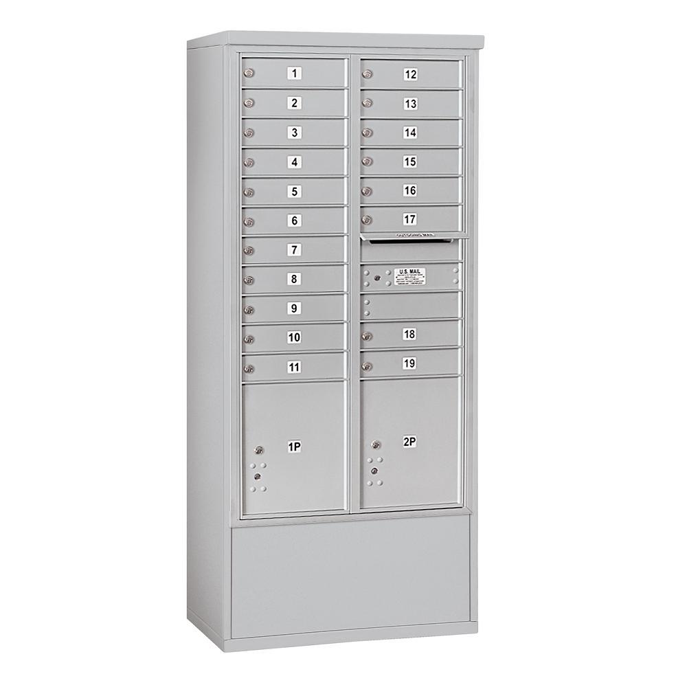3900 Horizontal Series 19-Compartment 2-Parcel Locker Free Standing Mailbox