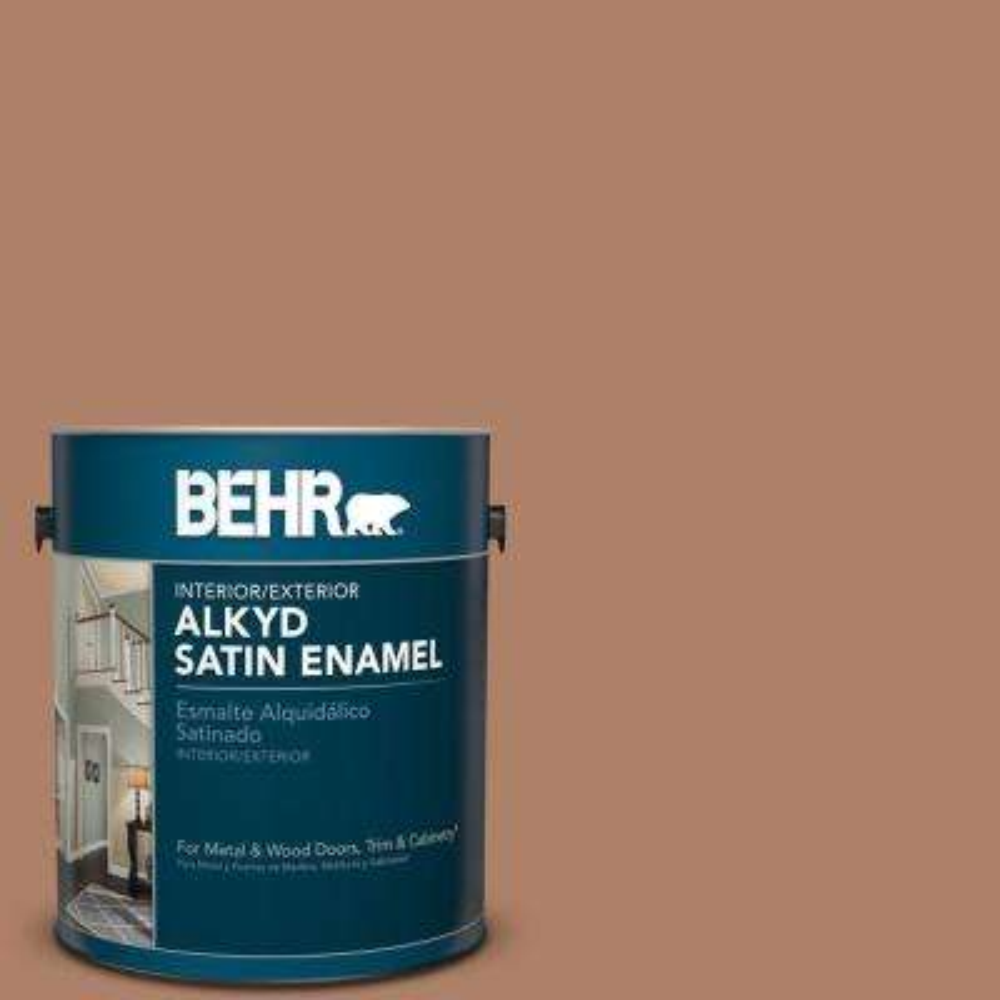 1 gal. #S210-5 Cider Spice Satin Enamel Alkyd Interior/Exterior Paint