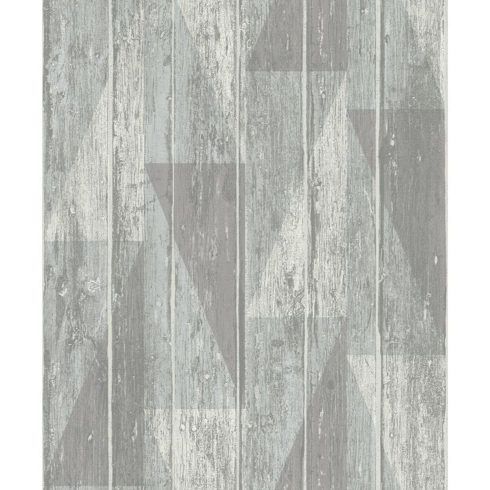 8 in. x 10 in. Nilsson Sage Geometric Wood Wallpaper Sample