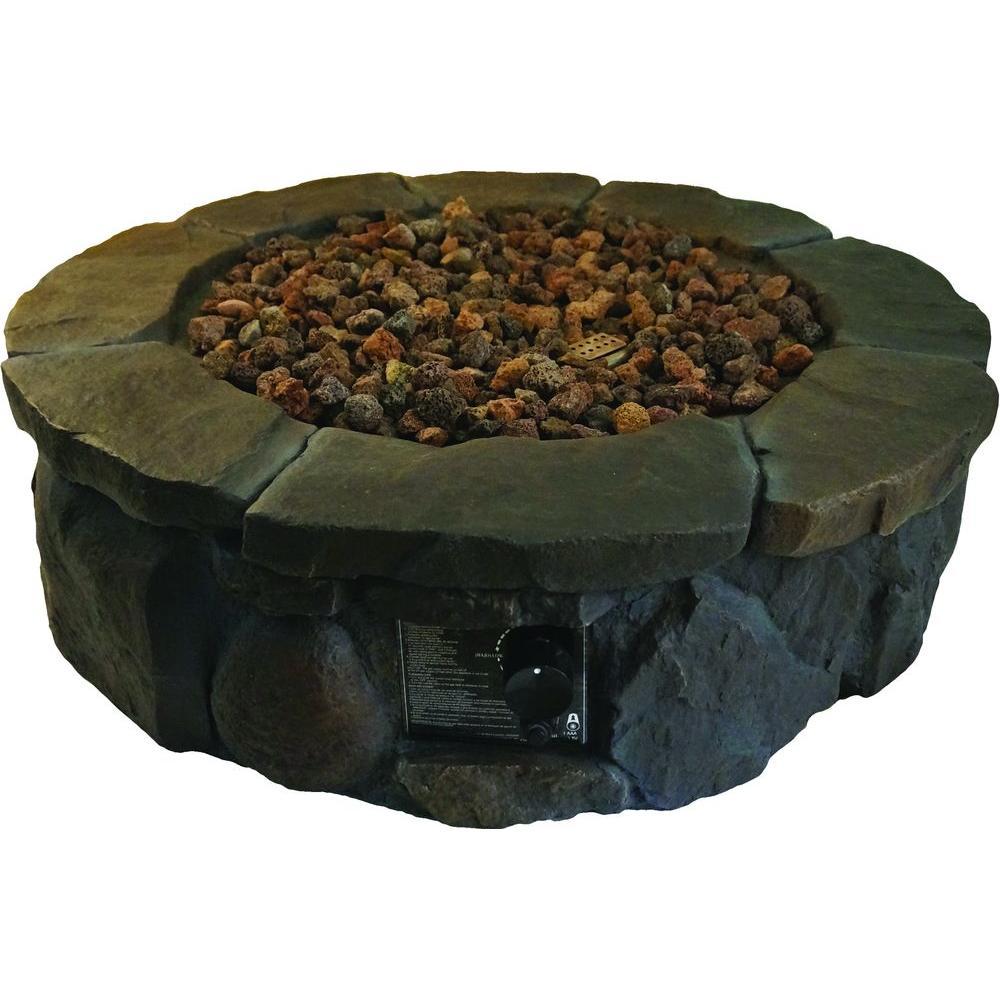 36 in. Envirostone Propane Fire Pit