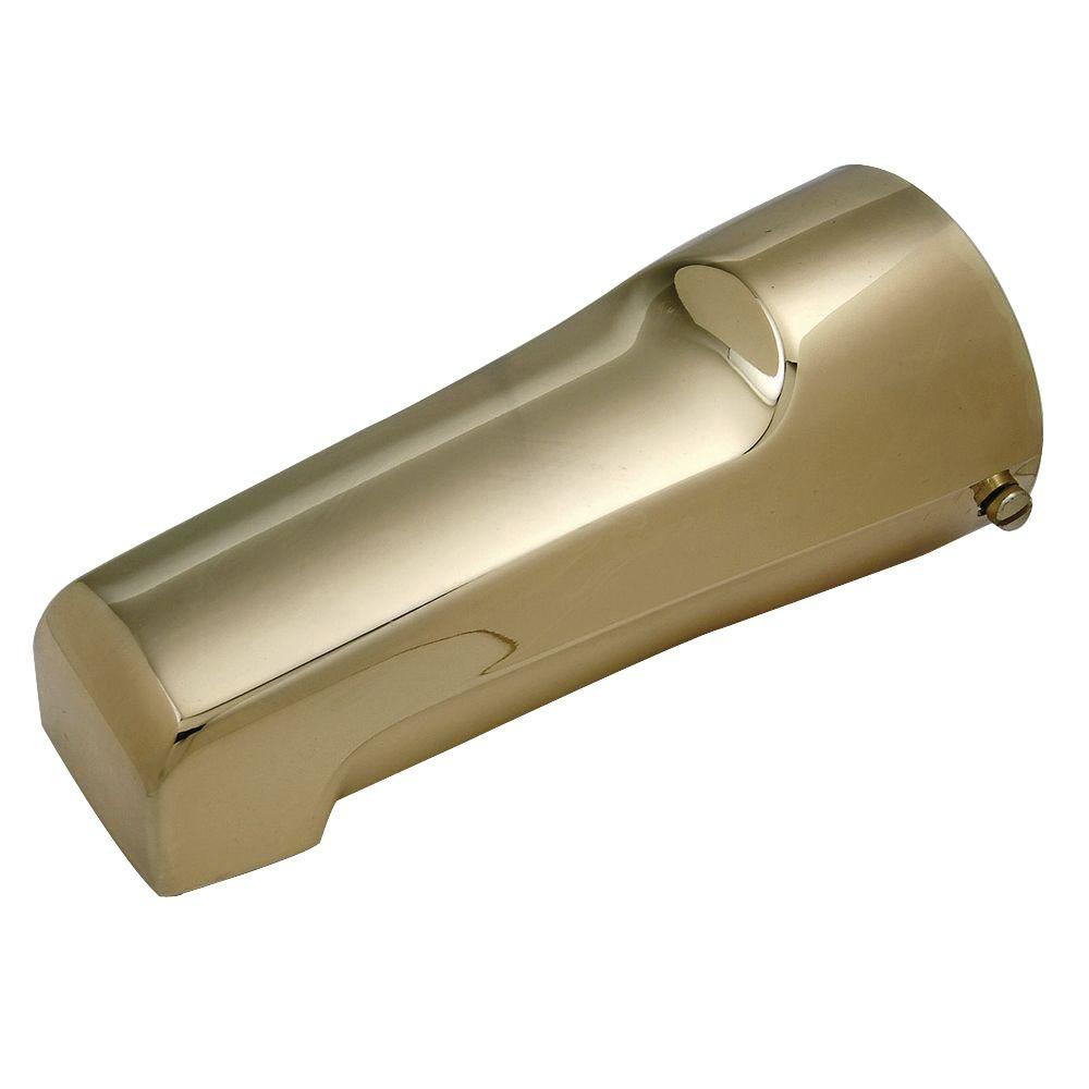 Mixet 6-1/2 in. Quikspout Filler Tub Spout in Polished Brass