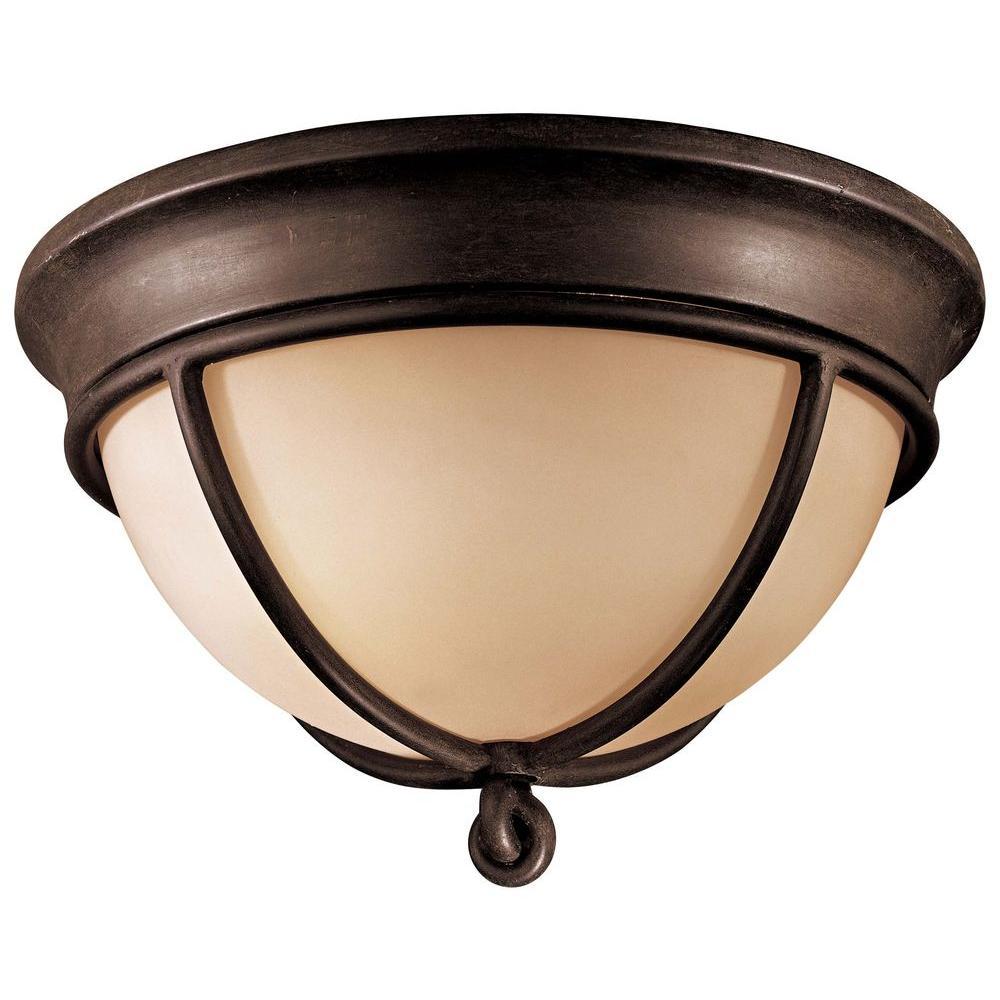 Minka Lavery Aspen 2-Light Aspen Bronze Flushmount