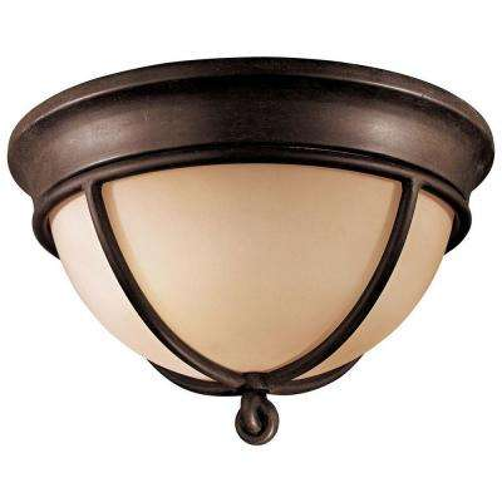 Aspen 2-Light Aspen Bronze Flushmount