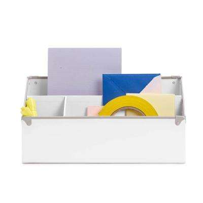 Frisco Desk Organizer, White and Fog