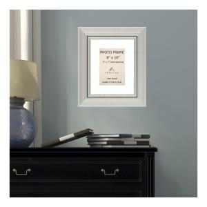Amanti Art Romano 5 inch x 7 inch White Matted Silver Picture Frame by Amanti Art