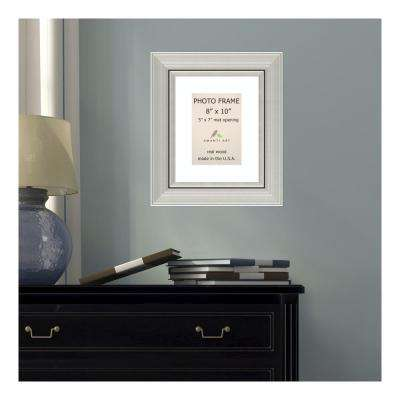 Romano 5 in. x 7 in. White Matted Silver Picture Frame