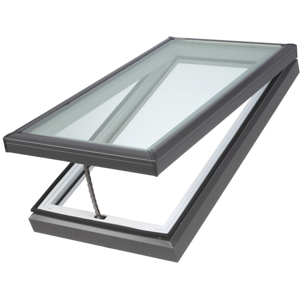 VELUX 22-1/2 in. x 46-1/2 in. Fresh Air Venting Curb-Mount Skylight with Laminated Low-E3 Glass