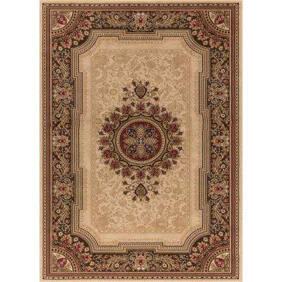 Ankara Chateau Ivory Rectangle Indoor 9 ft. 3 in. x 12 ft. 6 in. Area Rug