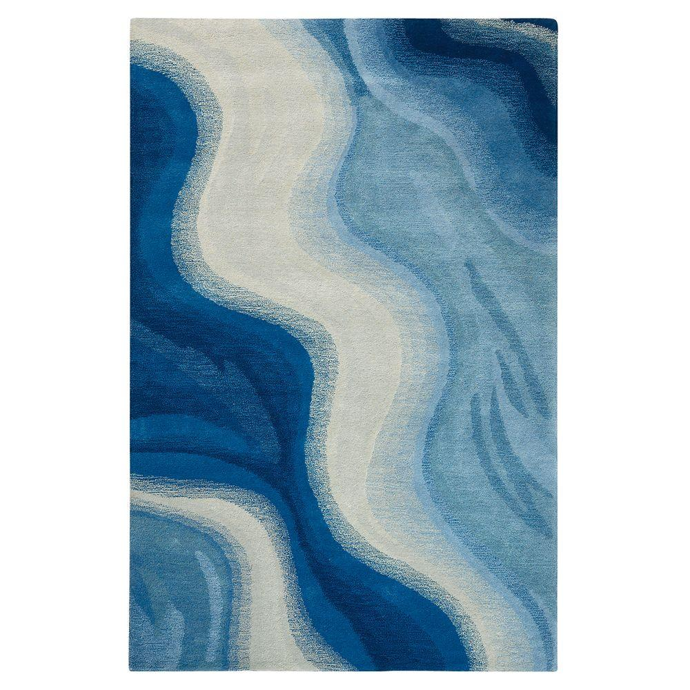 Home Decorators Collection Rush Blue 9 ft. 6 in. x 13 ft. Area Rug