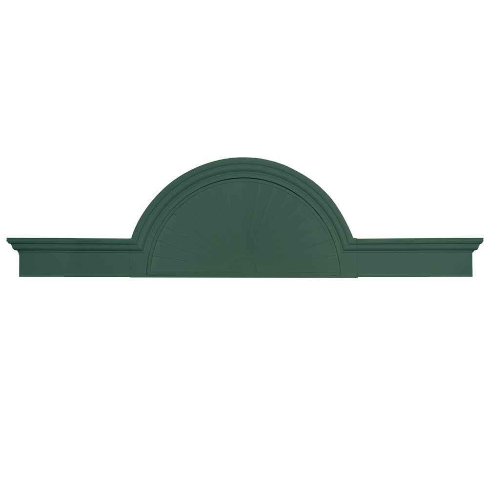 Builders Edge 70 in. - 106 in. Flat Panel Window and Door Accent in 028 Forest Green-DISCONTINUED