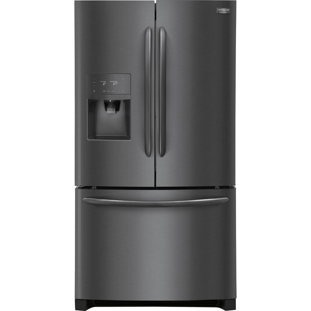Charmant Frigidaire Gallery 21.9 Cu. Ft. French Door Refrigerator In Black Stainless  Steel, Counter