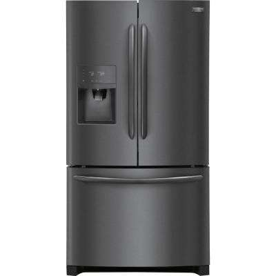 21.9 cu. ft. French Door Refrigerator in Black Stainless Steel, Counter Depth